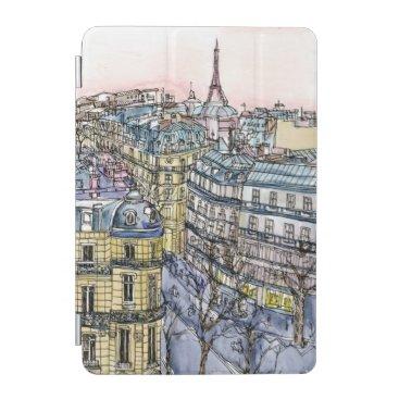 Destinations   Watercolor Eiffel Tower & Paris iPad Mini Cover
