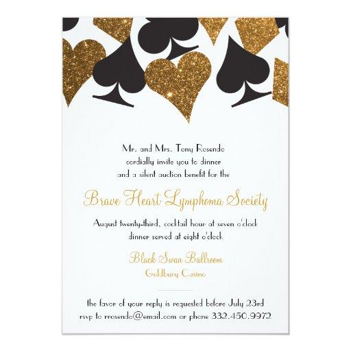 Destiny Las Vegas Casino Party Faux Gold Glitter 5x7 Paper