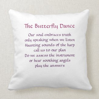 Destiny Pillow - The Butterfly Dance throwpillow
