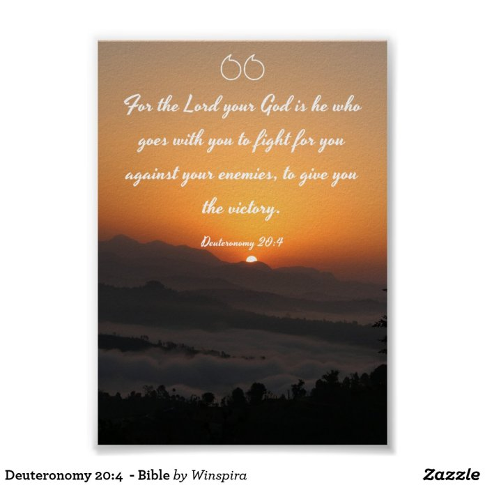 Deuteronomy 20:4 - Bible Poster
