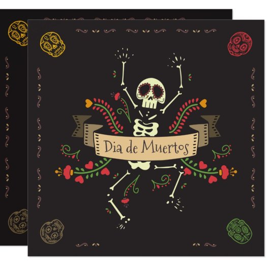 Dia de los Muertos Halloween Party Invitation