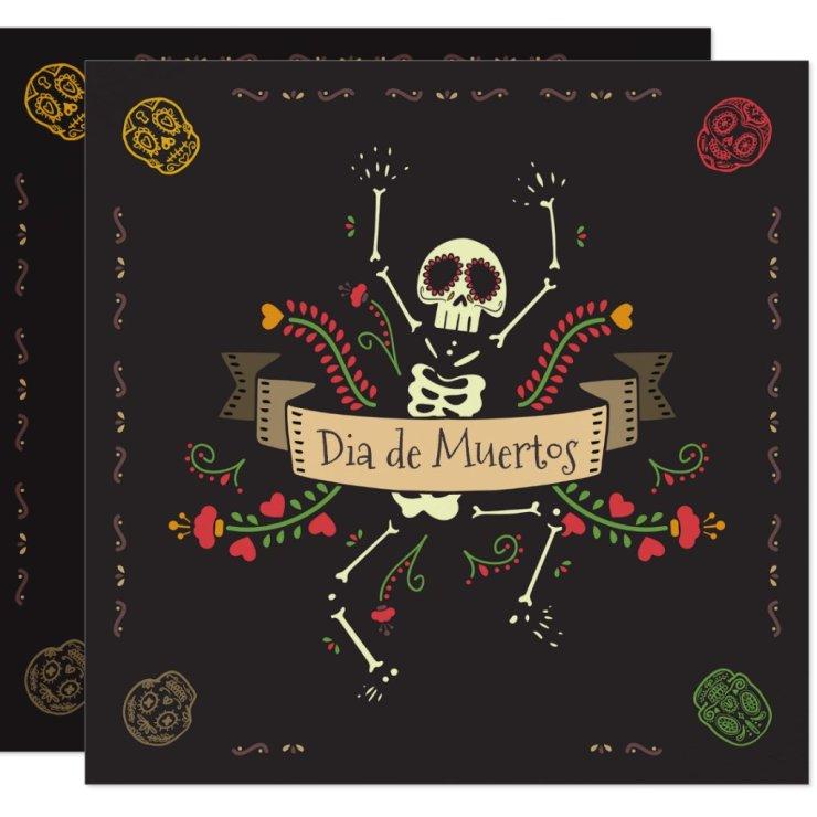 Dia de los Muertos Halloween Party Invitation