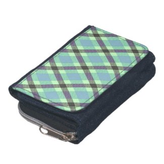 Diagonal Plaid/Tartan Wallets