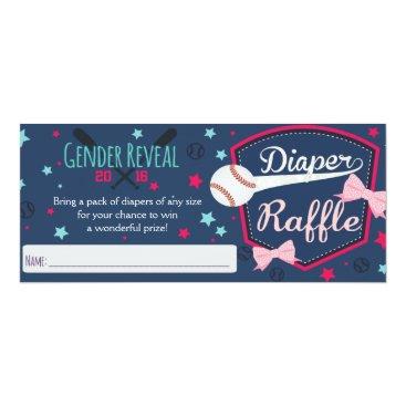 diaper raffle - gender reveal card