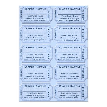 Diaper Raffle Tickets Card