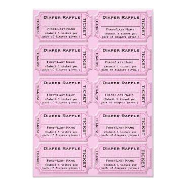 Diaper Raffle Tickets Cute Baby Shower Invitation