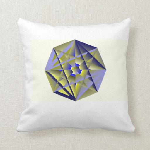 Digital Medallion Throw Pillow