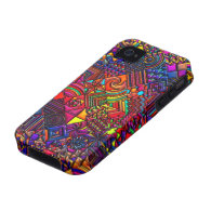 digital quilt modern retro iPhone 4 cases