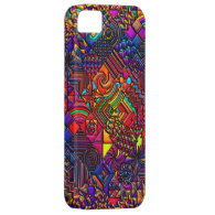 digital quilt modern retro iPhone 5 cover