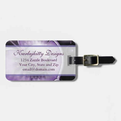 Dimensions of Purple Luggage Tag