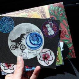 Anytime - Dinosaur E.T. Bike Greeting Card