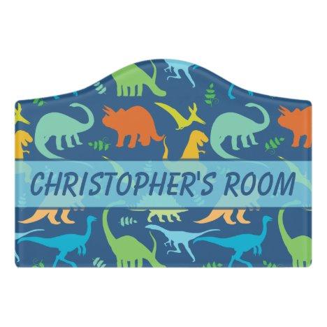Dinosaur Room Personalized Door Sign