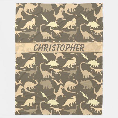 Dinosaurs Personalized Fleece Blanket