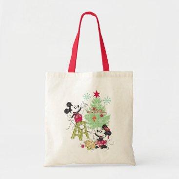Disney   Mickey & Minnie   Classic Christmas Tree Tote Bag