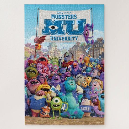 disney pixar monsters university movie poster jigsaw puzzle zazzle com