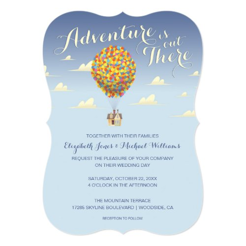 Disney Pixar Up Wedding | Adventure is Out There C Invitation