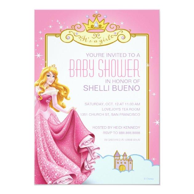 Disney Princess Aurora It S A Girl Baby Shower Invitation Zazzle Com