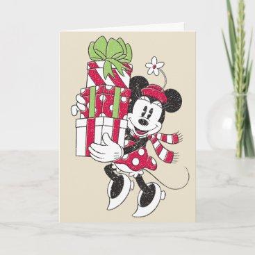 Disney | Vintage Minnie Delivering Holiday Cheer