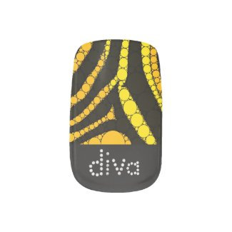Diva Bling Animal Print Tips Minx Nail Wraps