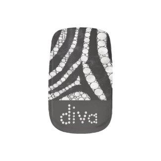 DIVA BLING Zebra Tips Minx Nail Wraps