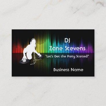 DJ Spinning Vinyl Business Card Template