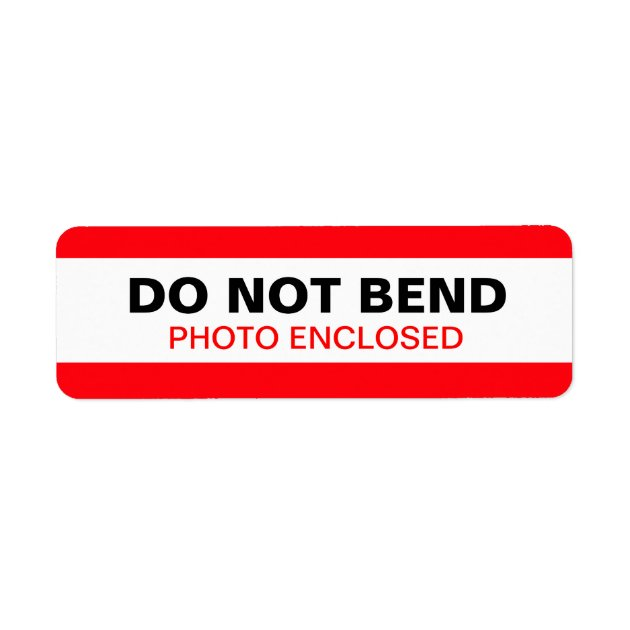 Do Not Bend Warning Label Red