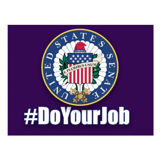 Do Your Job Senate Postcard
