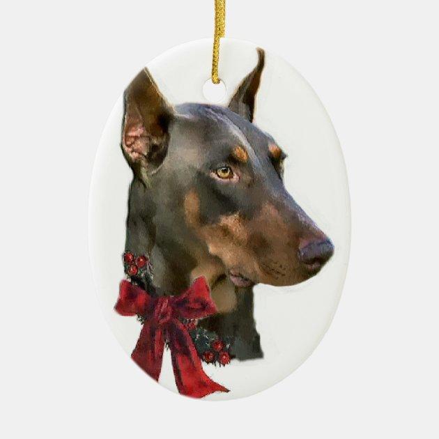 Doberman Pinscher Christmas Gifts Ornament Zazzle
