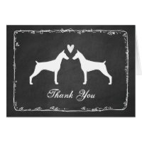 Doberman Pinschers Wedding Thank You Card
