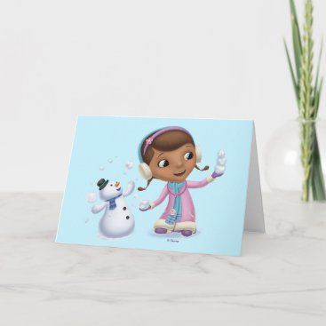 Doc McStuffins | Doc And Chilly Playing In  Snow Holiday Card