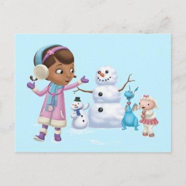 Doc McStuffins   Doc McStuffins Playing In Snow Postcard