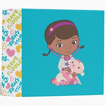 Doc McStuffins Holding Lambie 3 Ring Binder