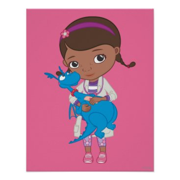 Doc McStuffins Holding  Stuffy Poster