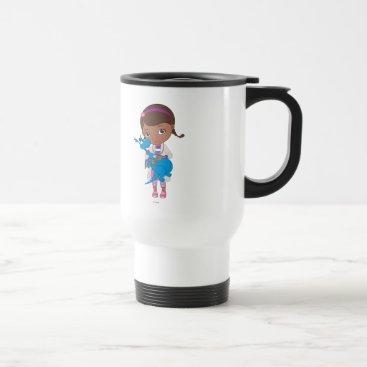 Doc McStuffins Holding  Stuffy Travel Mug