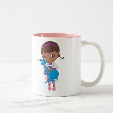 Doc McStuffins Holding  Stuffy Two-Tone Coffee Mug