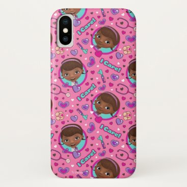 Doc McStuffins | I Care Pink Pattern iPhone X Case