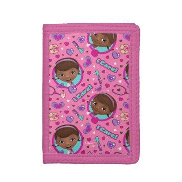 Doc McStuffins | I Care Pink Pattern Trifold Wallet