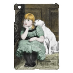 Dog Adoring Girl Victorian Painting Cover For The iPad Mini
