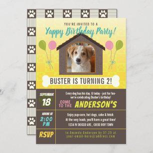 dog birthday invitations zazzle