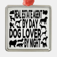 Dog Lover Real Estate Agent Ornaments