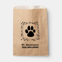 Dog Paws and Dog Bones Favor Bag
