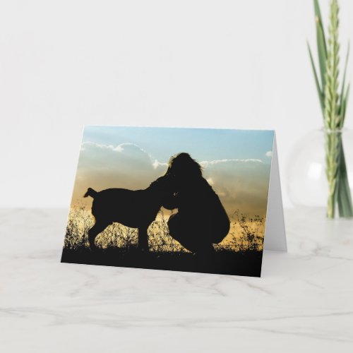 Dog Sympathy Card Memorial Rainbow's End Poem