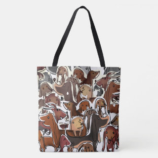 dogs :) tote bag