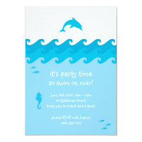 Dolphin and Ocean Waves Invitation Card