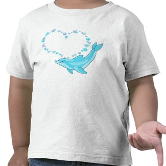 Dolphin Heart T Shirt