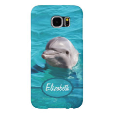 Dolphin in Blue Water Personalize Samsung Galaxy S6 Case