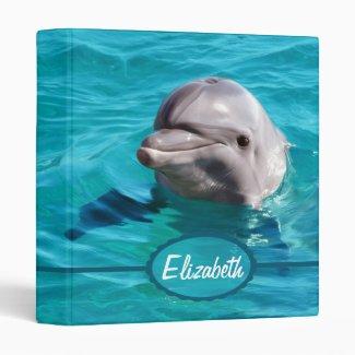 Dolphin in Blue Water Photo Binder