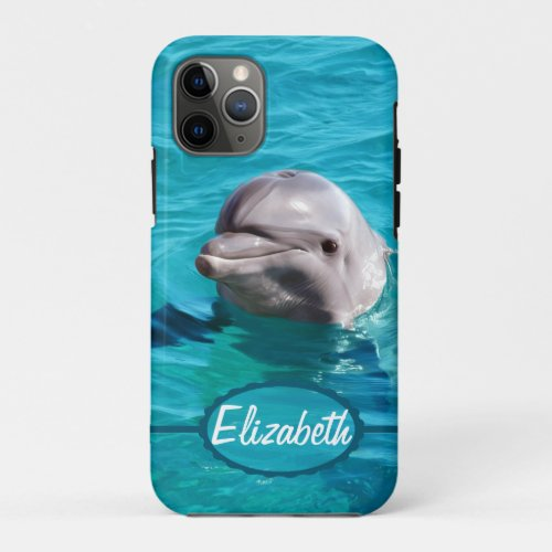 Dolphin in Blue Water Photo iPhone 11 Pro Case