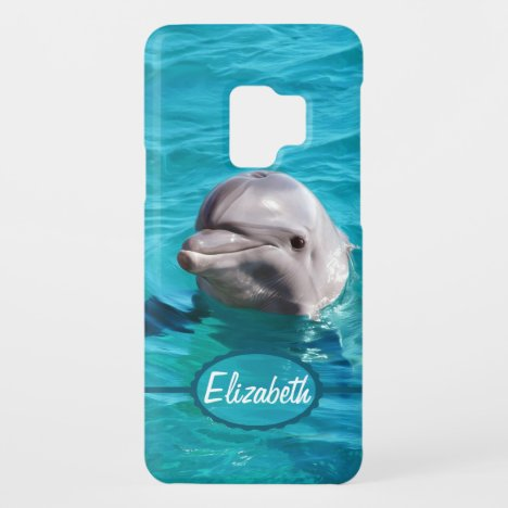 Dolphin in Blue Water Photo Case-Mate Samsung Galaxy S9 Case