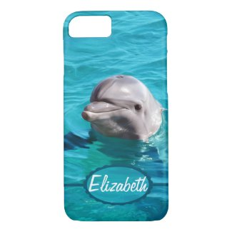 Dolphin in Blue Water Photo iPhone 8/7 Case